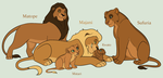 Lion Family Adoptables 5 *OPEN* by acornheart465