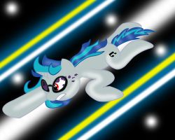 Flying Vinyl Scratch by BadPinkiePieDrawer