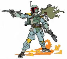 Boba fett Cartoon by ibentmywookiee