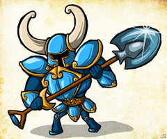 Wind Waker Style -- Shovel Knight by Bradshavius