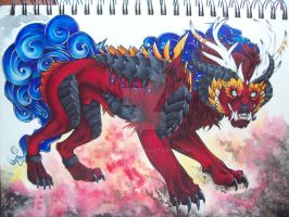 The Great Crowned Beast by Penfell