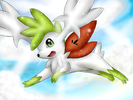 Pokemon: Shaymin Sky Forme by Ink-Leviathan