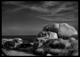Icy Rocks on Superior by Murphoto