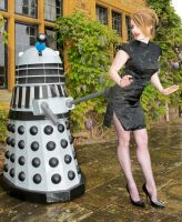 Amy Pond captured by a Dalek by drknyght6