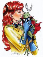 Princess + Frog, Marvel-style by colorista