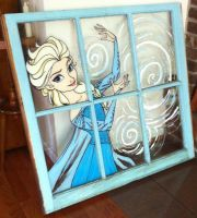 Painted Elsa Window by darthmer-mer