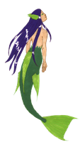 Transparent! Green Mermaid by MommaCabbit