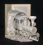 Train Book Sculpture by wetcanvas