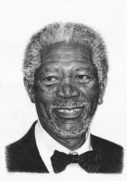 Morgan Freeman by Tarsanjp