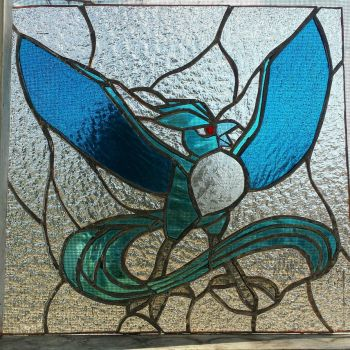 articuno stained glass by cellocalypse