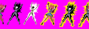 Athena Asamiya KOF XIII Electrocuted Spritesheet by Xenomic