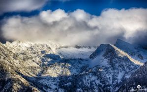 Clouds Over Snow HDR by mjohanson