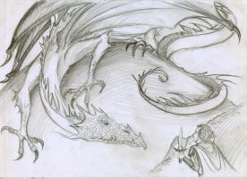 In the lair of Smaug sketch by vigshane
