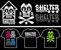 SHELTER RECORDS STICKERS by mrchugchug