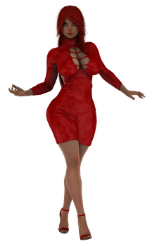 STOCK Spooky Kiwa, Red Dress by ambient-avalancher