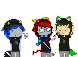 Kawaii Neko Boys-- Homestuck Cosplay!!~ by JiggleJello