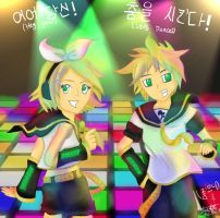 COLLAB: Kagamine- Let's Dance by StarsOfCASSiOPEiA
