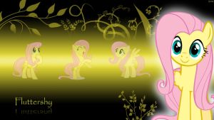 Wallpaper Fluttershy by youki506