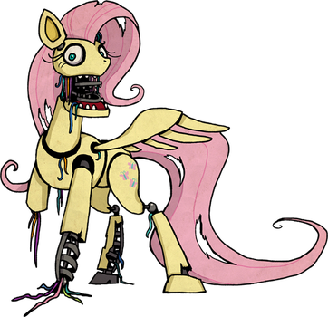 My Little Pony Fluttershy Animatronic by kaizerin