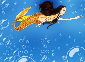 Loving my life in the ocean by Selinelle