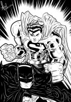 Batman And Superman by azzh316