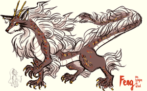 OCs -- Feng Dragon form by onisuu