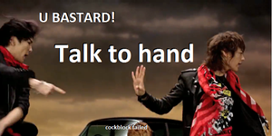 Talk to hand by SHINeeWTF