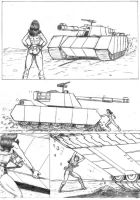 Wonder Woman vs Tank 02 by RPL-Arts