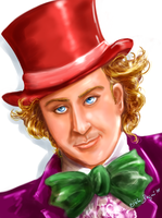 Willy Wonka -Gene Wilder by FairyGodfather