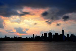 Clouds Over NYC by Ice-Beam