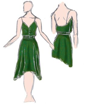 Green 20's inspired dress by jazz-man556677