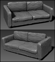 Post-Apocalyptic Sofa - Highpoly by J-L-Art