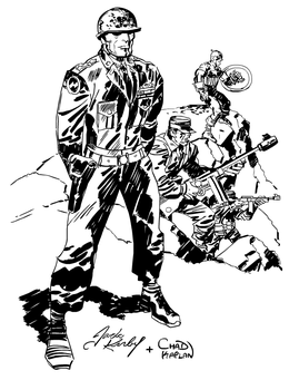 General Arygle Fist (Jack Kirby Inking) by LeevanCleefIII