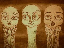 Three babies in a row (after effects) by Pedobearq