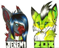 Jeremy and Zox by CALLYKITTY