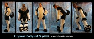 Kit Paws bodysuit/tail/paws by stuffedpanda-cosplay
