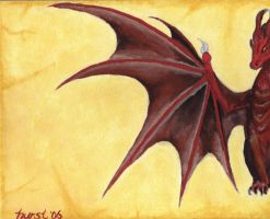 Dragon, on Parchment by melis-star