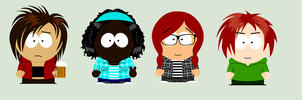 My Ocs in South Park Studios Form by Anime-Cat123