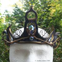 Leather Fairy Crown by Beadmask