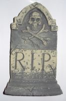 RIP skull tombstone by ghoulskout