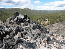 Big Obsidian Flow - Newberry Crater by Sonic840