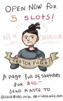 Sketch Pages are back by BlackBirdInk