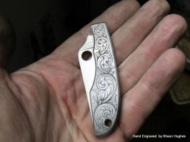 Hand Engraved Spyderco By Shaun Hughes by shaun750