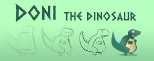 doni the dinosaur by oridan2