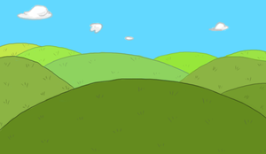 Adventure Time Background by WingedWarrior13