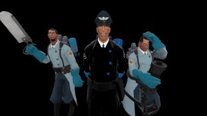 the Blue Medic and his minions by PontusKay