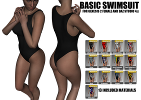 Basic Swimsuit for Genesis 2 Female by sedartonfokcaj