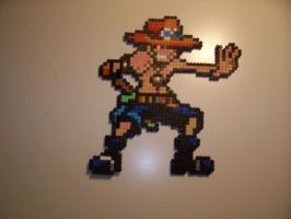 Portgas D. Ace bead Sprite by TameFlame