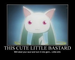 Kyubey Demotivational by buttfabric