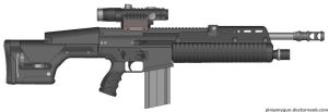"FN-250 ""Jackhammer"" Rifle by DaVinciAirsoft"